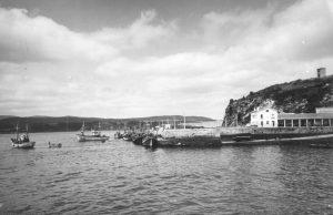 Muelle de Celeiro a principios de los sesenta