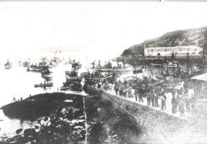 Muelle viejo de Celeiro a principios de siglo XX