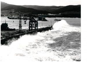 Temporal dique muelle norte dic 1968