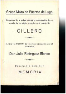 Rampa muelle de hormigón. Obras ejecutadas en 1938.